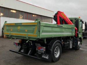 LKW Pavic - Kran Kipper Fahrzeuge - Meiller Kipper grün hinten rechts